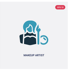 Two color makeup artist icon from professions vector