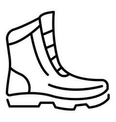 Winter boot icon outline style vector