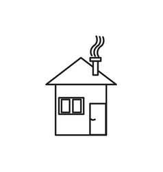 winter house icon vector image