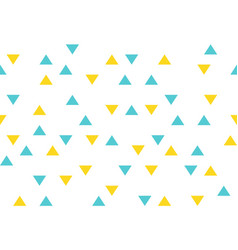 yellow blue colorful abstract triangles retro vector image