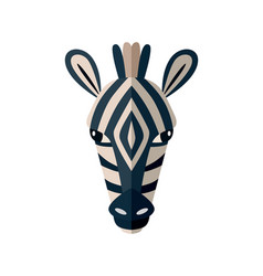 Zebra head icon in flat design vector