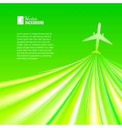 airplane around the green vector image vector image