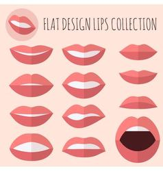Flat design lips vector image