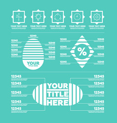 infographic elements steps icons and charts vector image vector image