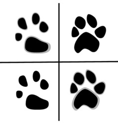 Prints of animal paws flat style vector