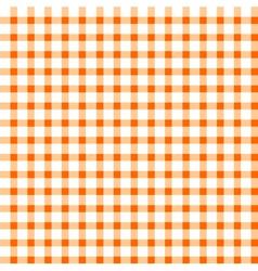 Seamless retro white-orange square tablecloth vector image