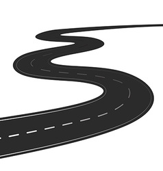 Winding road isolated vector image