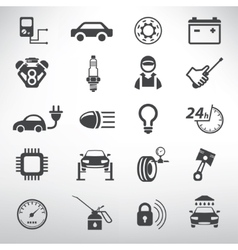 auto service icons set repair and spare parts vector image vector image