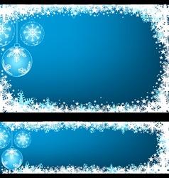 Blue Christmas Greeting vector image