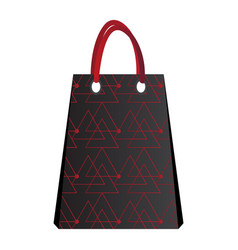 isolated empty shopping bag vector image vector image