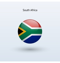 South Africa round flag vector image