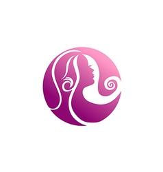 Woman beauty abstract hair logo vector