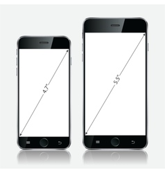 Realistic black mobile apple iphone 5s or 6 plus vector image vector image