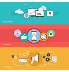 SEO marketing banner vector image