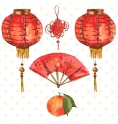 Background oriental chinese new year element vector