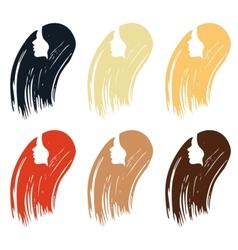 Hair colour palette vector image vector image