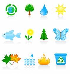 icon set environment vector image vector image