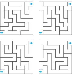 Set of mazes vector image vector image