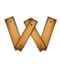 wooden type w vector image