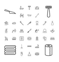 37 hygiene icons vector