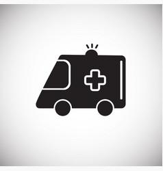 ambulance vehicle white on background vector image