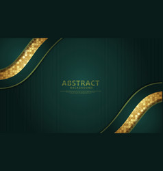 Background with green color flow lines effect vector