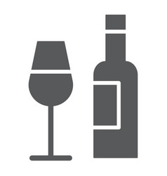 bar glyph icon alcohol and drink bottle and vector image