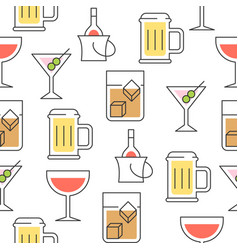 beverage summer theme seamless pattern vector image