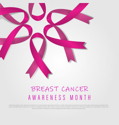 Breast cancer october awareness month world vector