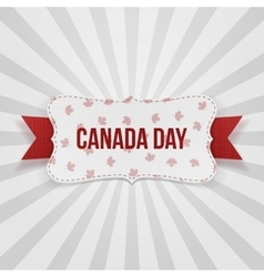 Canada Day realistic national Badge vector image