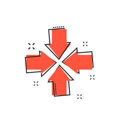 cartoon arrow icon in comic style aim cursor vector image