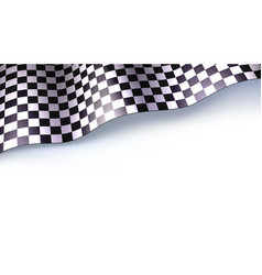 Checkered flag for car race or motorsport rally vector