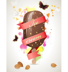 Choc ice background vector