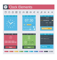 Clock elements vector