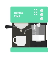Coffee Machine with a Cup vector