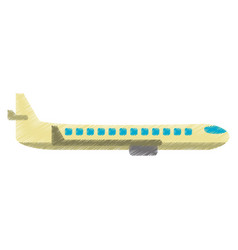 Drawing airplane transport flying image vector