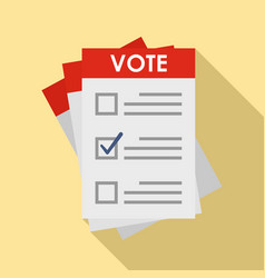 election paper icon flat style vector image