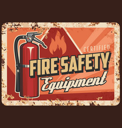 fire safety equipment and devices banner vector image