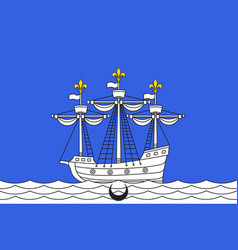 Flag of libourne in gironde of nouvelle-aquitaine vector