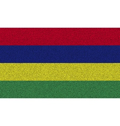 Flags mauritius on denim texture vector