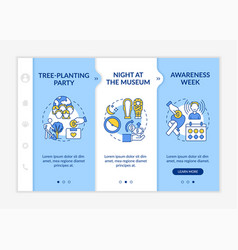 Fundraising campaign ideas onboarding template vector