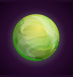 green space planet icon cartoon style vector image