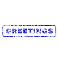 greetings rubber stamp vector image