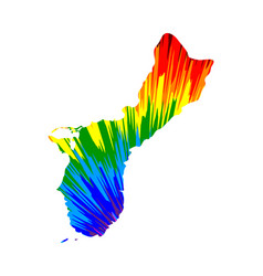 Guam - map is designed rainbow abstract colorful vector