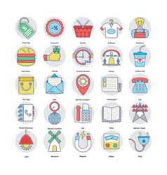 Home and services icons set vector