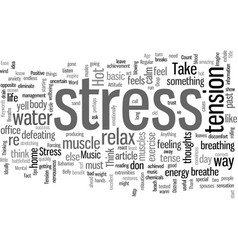How to combat stress vector
