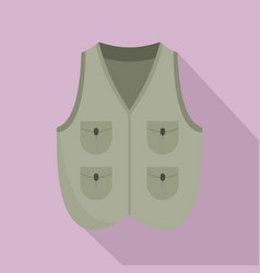 hunter vest icon flat style vector image