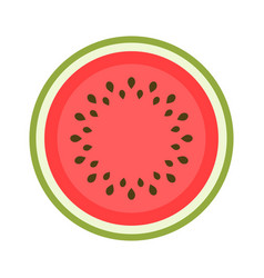 icon of a sweet watermelon isolated on white vector image