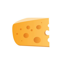 Icon of cheese with holes isolated on white vector