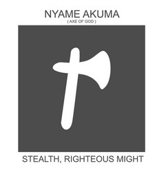 Icon with african adinkra symbol nyame akuma vector
